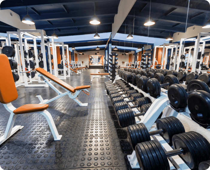 new-fitness-machines-and-dumbbells-in-modern-gym-i-HX8TM97